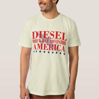 T-shirt Le diesel déplace l'Amérique
