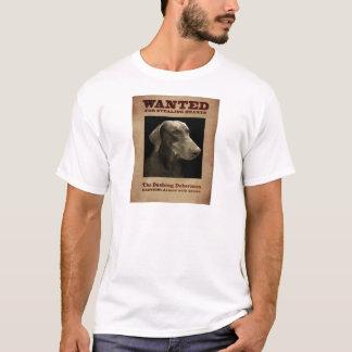 T-shirt Le dobermann se précipitant