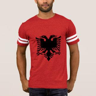 T-shirt Le double albanais de drapeau a dirigé Eagle sur