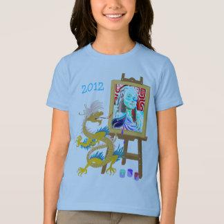 T-shirt Le dragon d'or peint votre chemise de modèle de