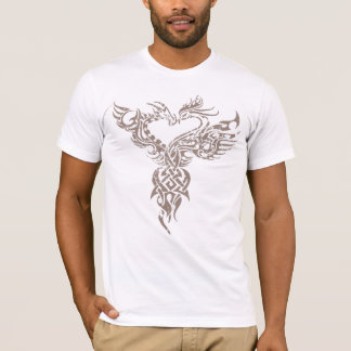 T-shirt Le dragon et le Pheonix font face