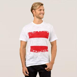 T-shirt Le drapeau abstrait de l'Autriche, Autrichien