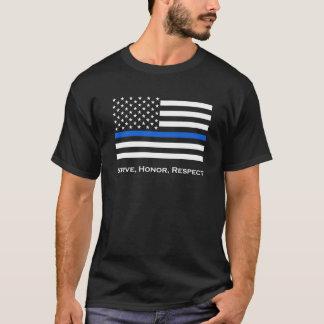 T-shirt Le drapeau américain amincissent Blue Line