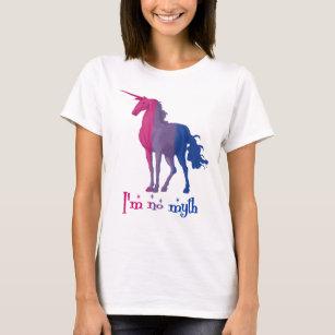 """T-shirt Le drapeau bisexuel drôle colore la licorne """"que"""
