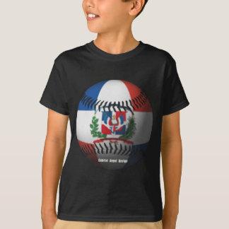 T-shirt Le drapeau de la République Dominicaine a couvert