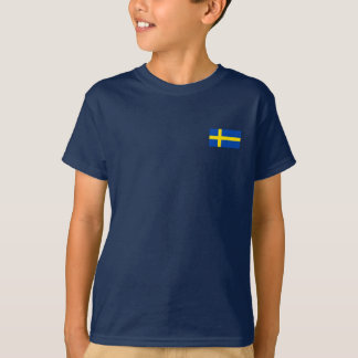 T-shirt Le drapeau de la Suède