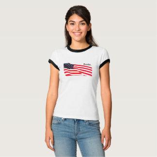 T-shirt Le drapeau des États-Unis de sonnerie de Bella des