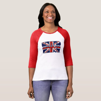 T-shirt Le drapeau du Royaume-Uni colore Madame audacieuse