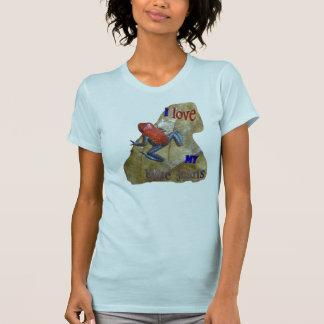 T-shirt Le $$etAPP des femmes de grenouille de blues-jean.