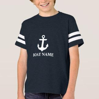 T-shirt Le FB de bateau du garçon nautique de nom