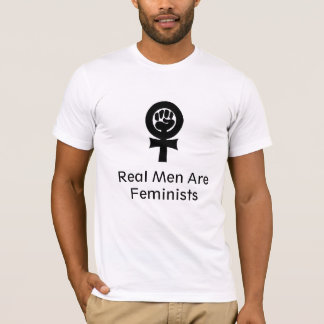 T-shirt le féminisme, de vrais hommes sont des féministes