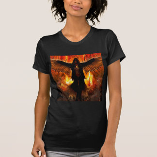 T-shirt Le feu abstrait d'enfer d'ange