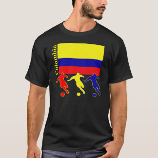 T-shirt Le football Colombie