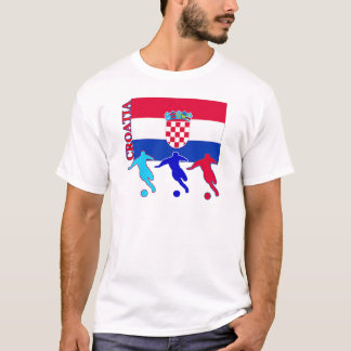 T-shirt Le football Croatie