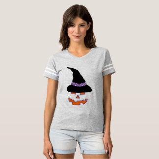 T-shirt Le football de beauté de citrouille de sorcière