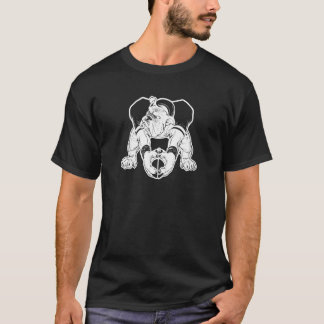 T-shirt Le football de bouledogue
