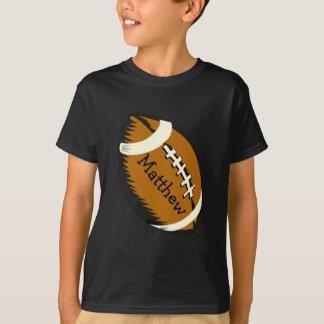 T-shirt Le football de Brown folâtre la chemise d'enfants