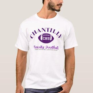 T-shirt Le football de fac de Chantilly