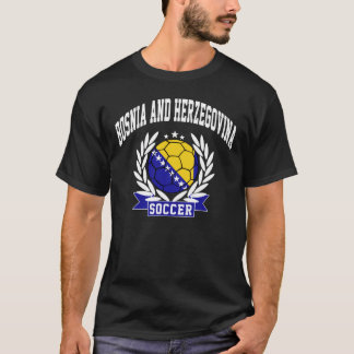 T-shirt Le football de la Bosnie-Herzégovine