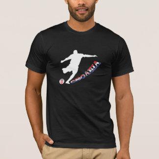 T-shirt Le football de la Croatie