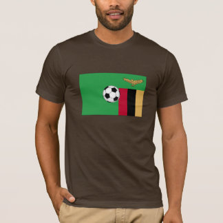 T-shirt Le football de la Zambie