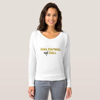 T-shirt Le football de l'Iowa et refroidissent le dessus