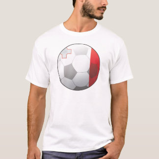 T-shirt Le football de Malte