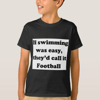 T-shirt Le football de natation