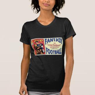 T-shirt Le football d'imaginaire de vieille école