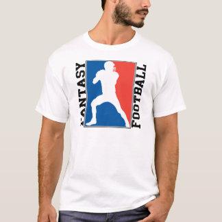 T-shirt Le football d'imaginaire, logo blanc et bleu rouge