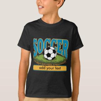 T-shirt Le football fait sur commande ajoutent le texte