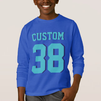 T-shirt Le football Jersey de sports des enfants | de bleu