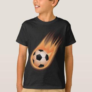 T-shirt le football, le feu de ballon de football