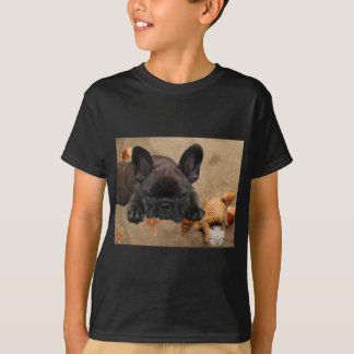 T-shirt Le français. Bouledogue T Shirt