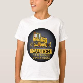 T-shirt Le futur conducteur de bouteur de bouteur badine