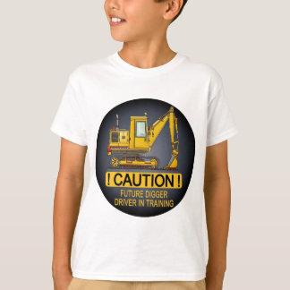 T-shirt Le futur conducteur défonceur de pelle badine le