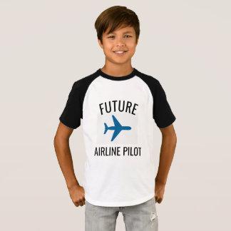 T-shirt Le futur pilote de ligne aérienne badine le