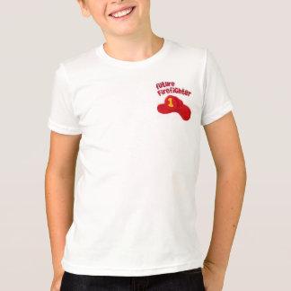 T-shirt Le futur sapeur-pompier badine la pièce en t
