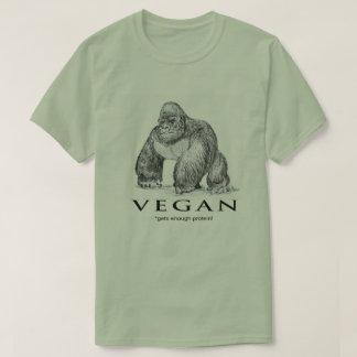 T-shirt Le gorille végétalien obtient assez de protéine