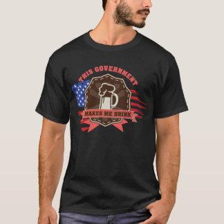 T-shirt Le gouvernement m'incite à boire