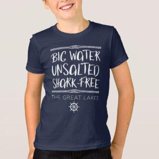 T-shirt Le grand lac : Grand, non salé, sans Requin