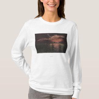 T-shirt Le Grand Lac Salé, scène d'UTSunset sur la vue de