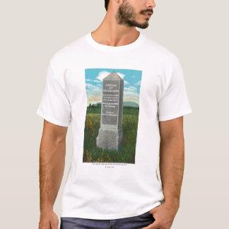 T-shirt Le grand ravin du champ de bataille de Saratoga
