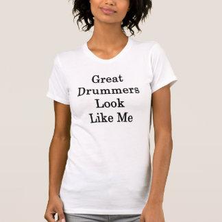 T-shirt Le grand regard de batteurs m'aiment