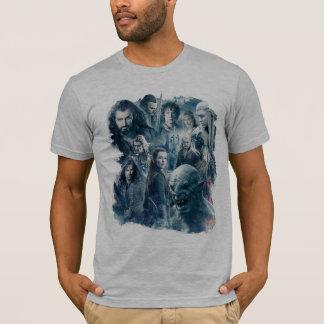 T-shirt Le graphique de caractère de cinq armées