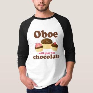 T-shirt Le hautbois jouera pour le chocolat