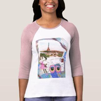 T-shirt Le hibou de Chouette va à Paris