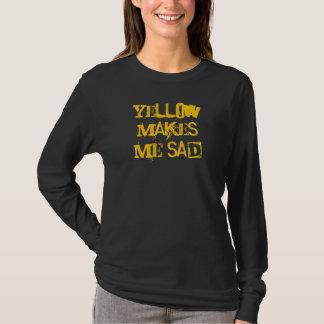 T-shirt Le jaune me rend triste