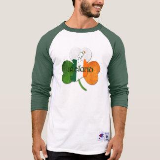 T-shirt Le jour de St Patrick/Carte-Trèfle de l'Irlande