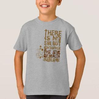 T-shirt Le juif de la citation d'ignorance de Malte